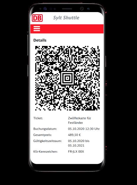 Der Webshop des DB Sylt Autozugs wurde von Adelt IT entwickelt, hier gezeigt auf einem Smartphone.