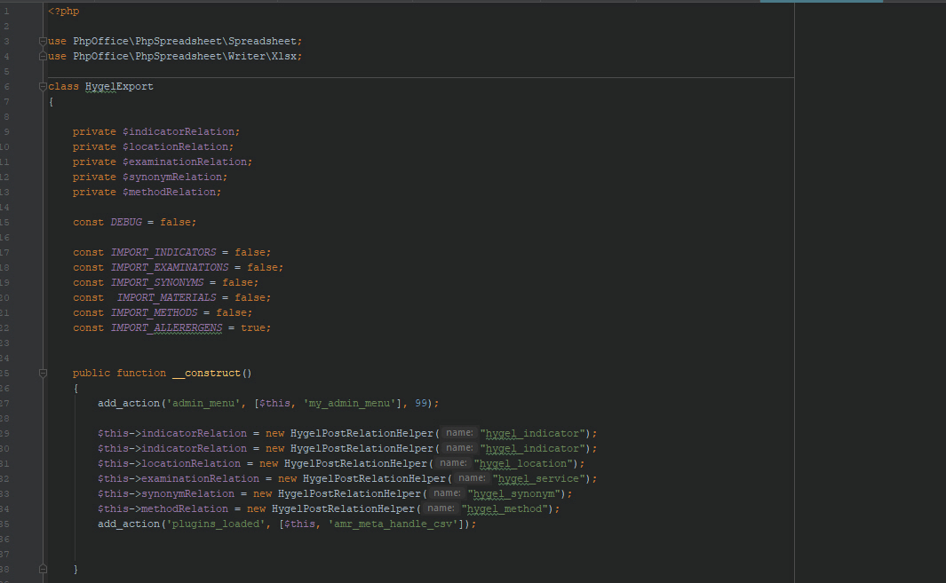 PHP Code in PHP-Storm Editor